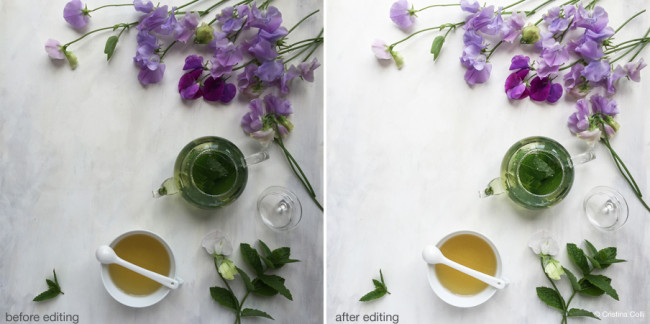 editing tips for iPhone still life photographs