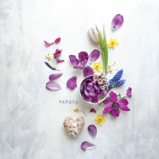 spring flat lay by Cristina Colli