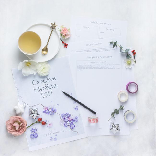 creativity workbook and planner by Cristina Colli