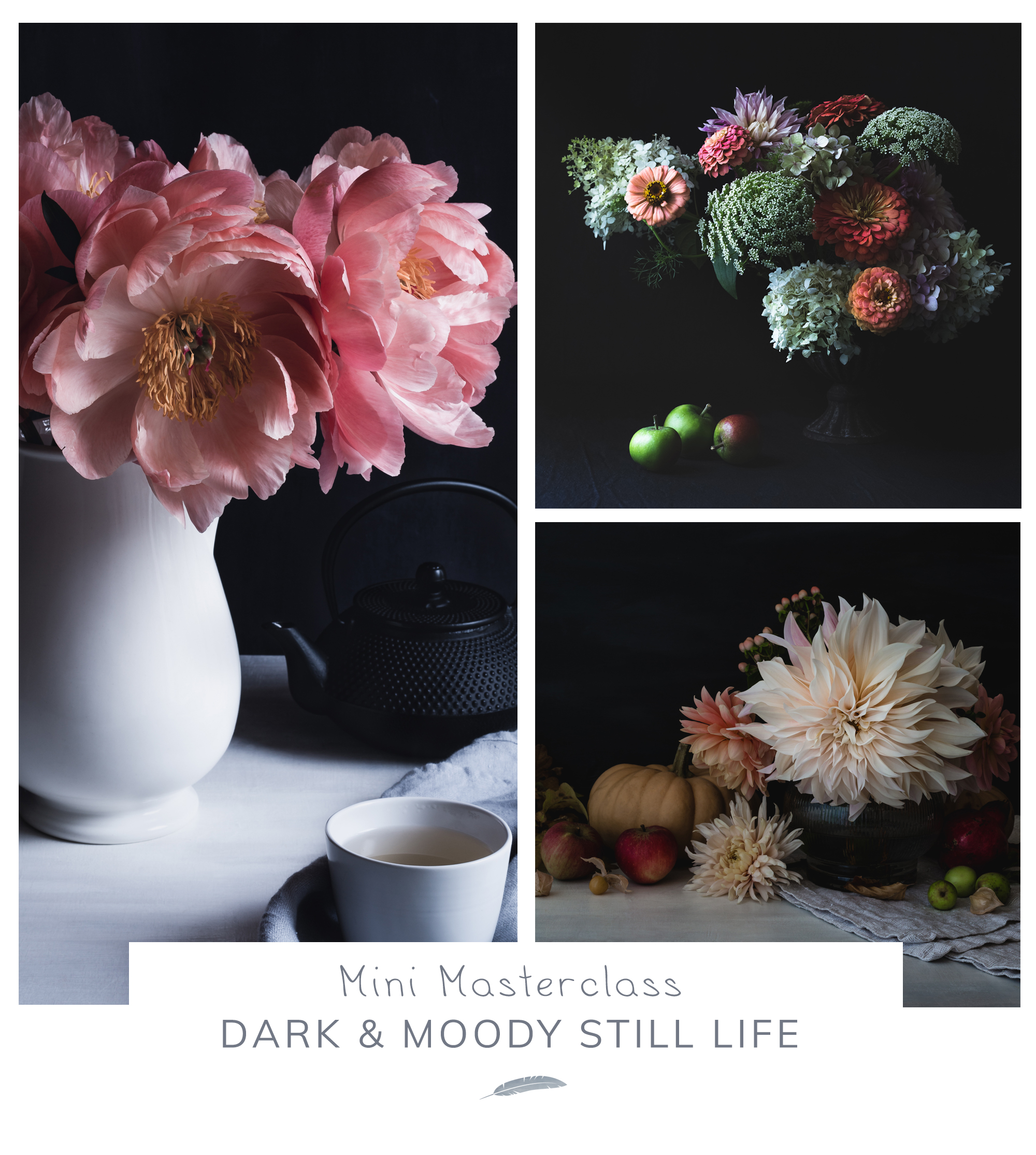 Dark & Moody still life photography